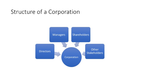 Structure of a Coproration